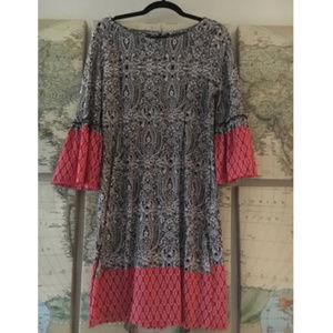 🌵Reborn Bell Sleeve Boho Paisley Dress Sz M